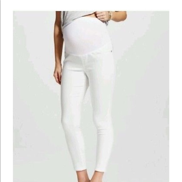 2019 best clients first well known White maternity Jeans NWT